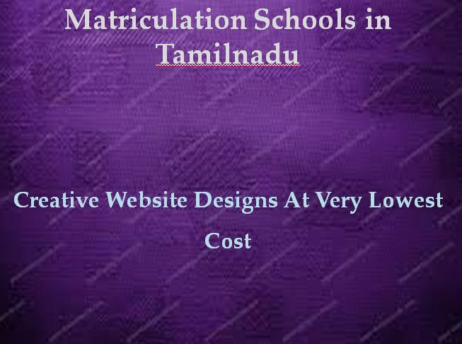 Matriculation Schools in Tamilnadu