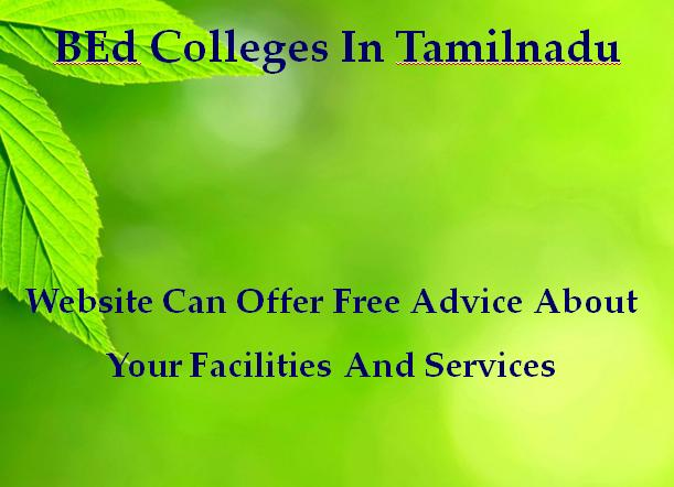 BEd Colleges In Tamilnadu