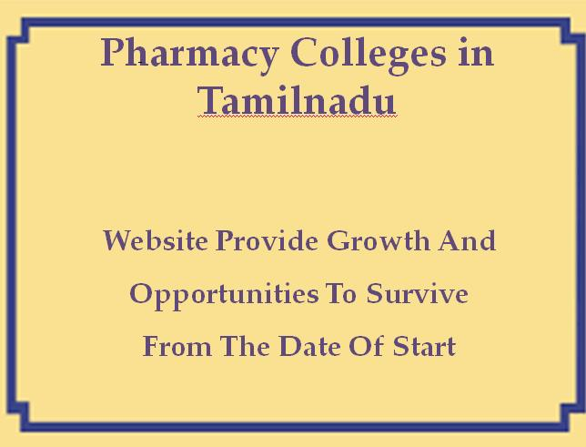 Pharmacy Colleges in Tamilnadu