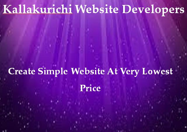 Kallakurichi Website Developers
