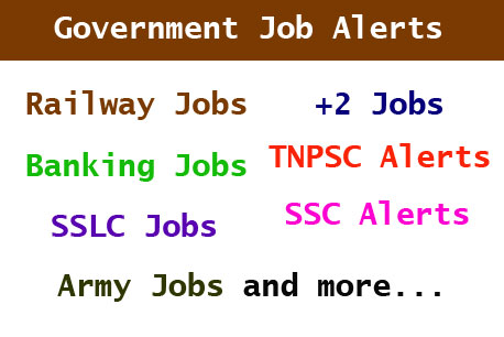 government job alert